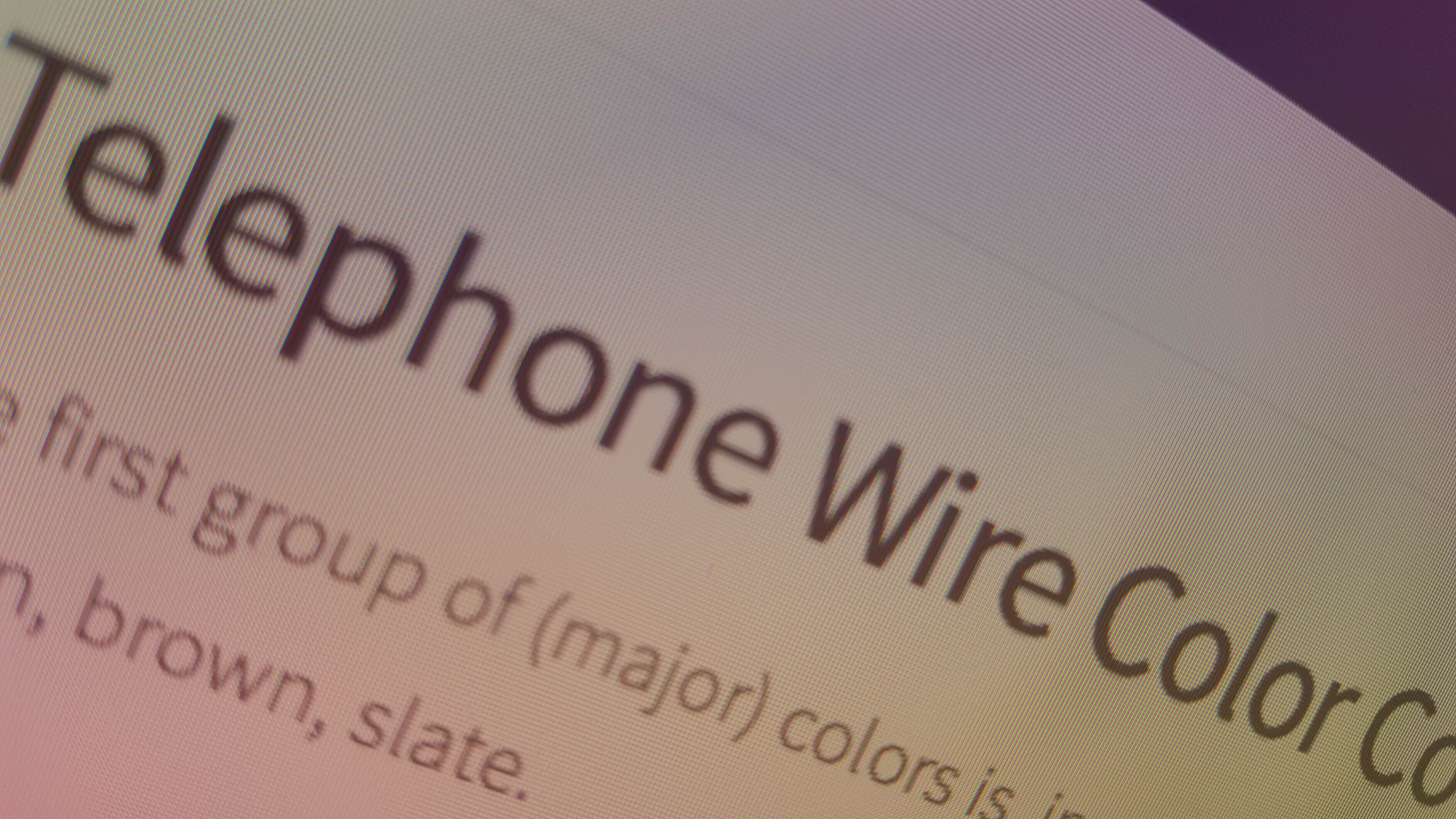 telephone wire color code pdf